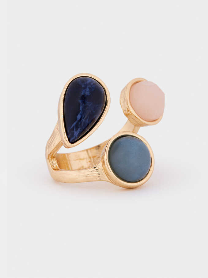 Ring With Stone, Multicolor, hi-res