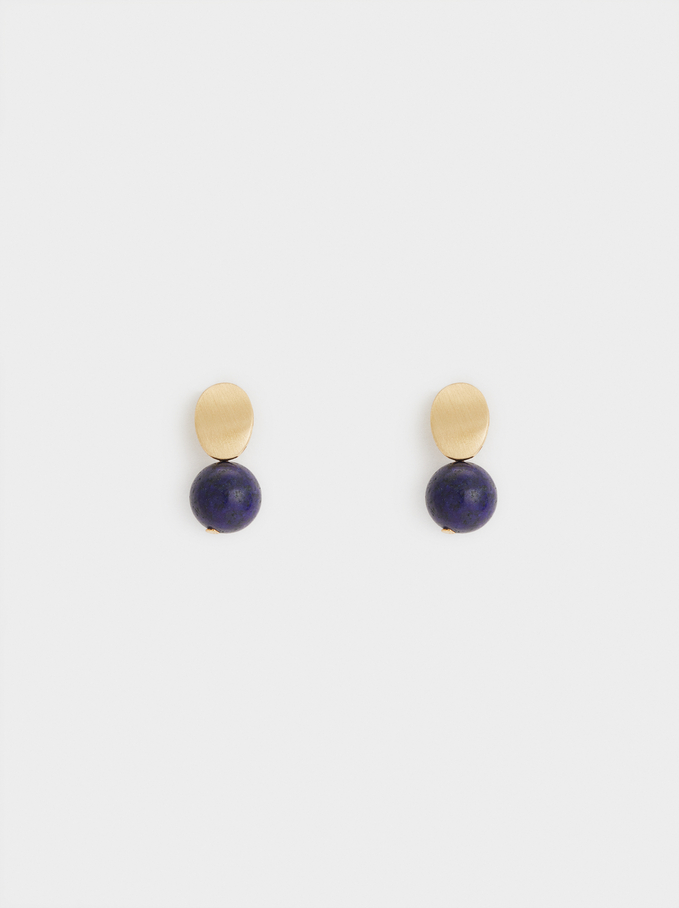 Savage Sparkle Short Earrings, Blue, hi-res