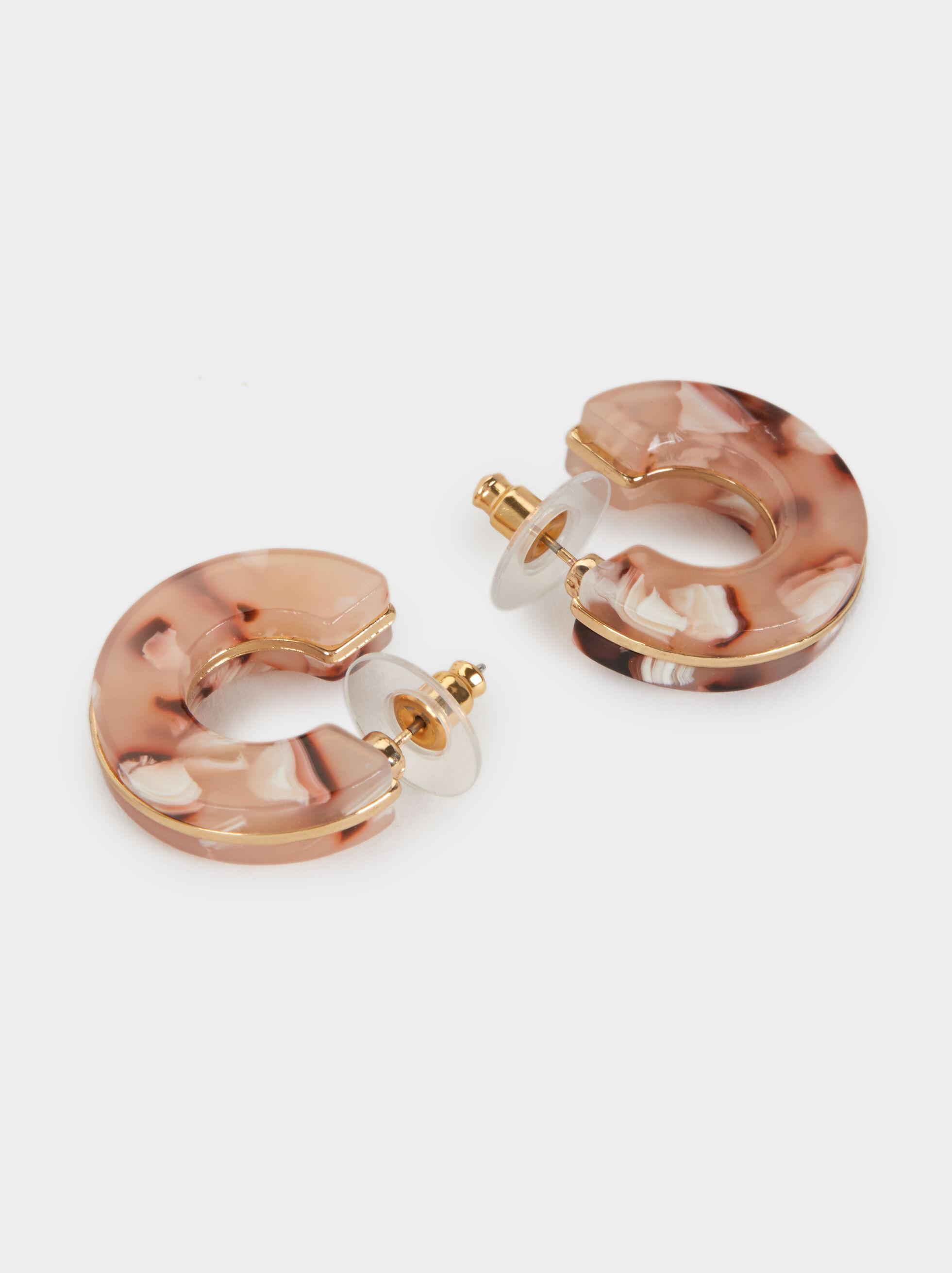 Land Small Tortoiseshell Hoop Earrings, Multicolor, hi-res