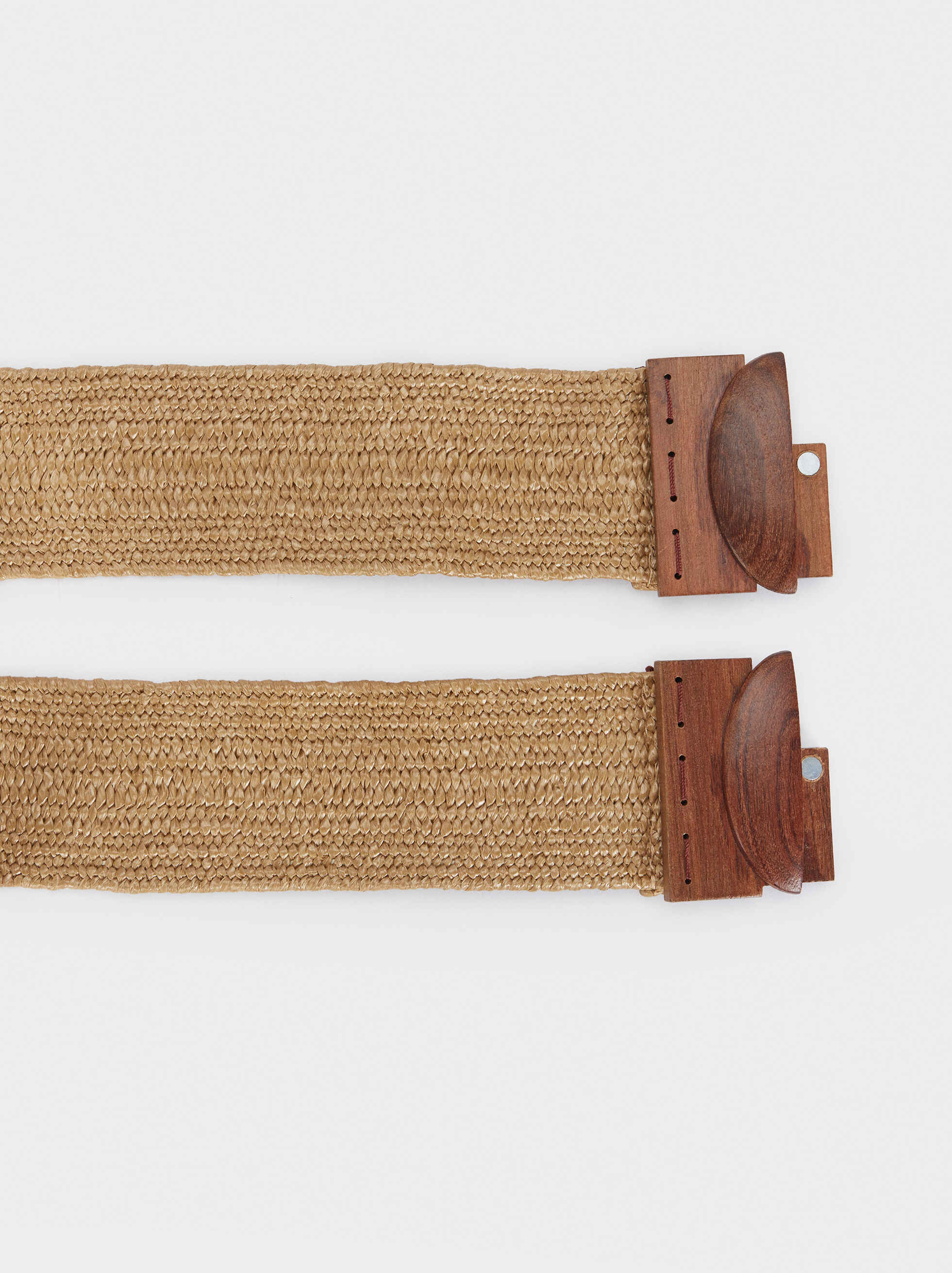 Wide Elastic Belt, Beige, hi-res