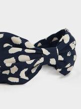 Polka Dot Hairband, Navy, hi-res