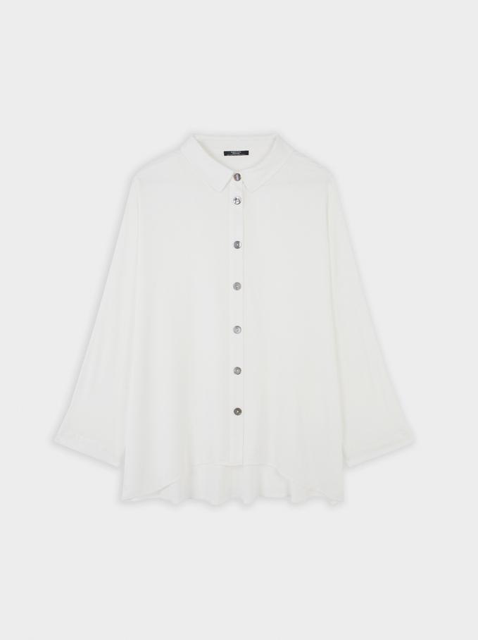 Basic Shirt, White, hi-res