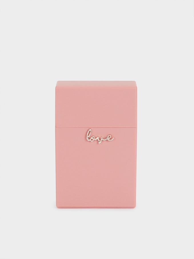 Love Face Mask Holder, Pink, hi-res
