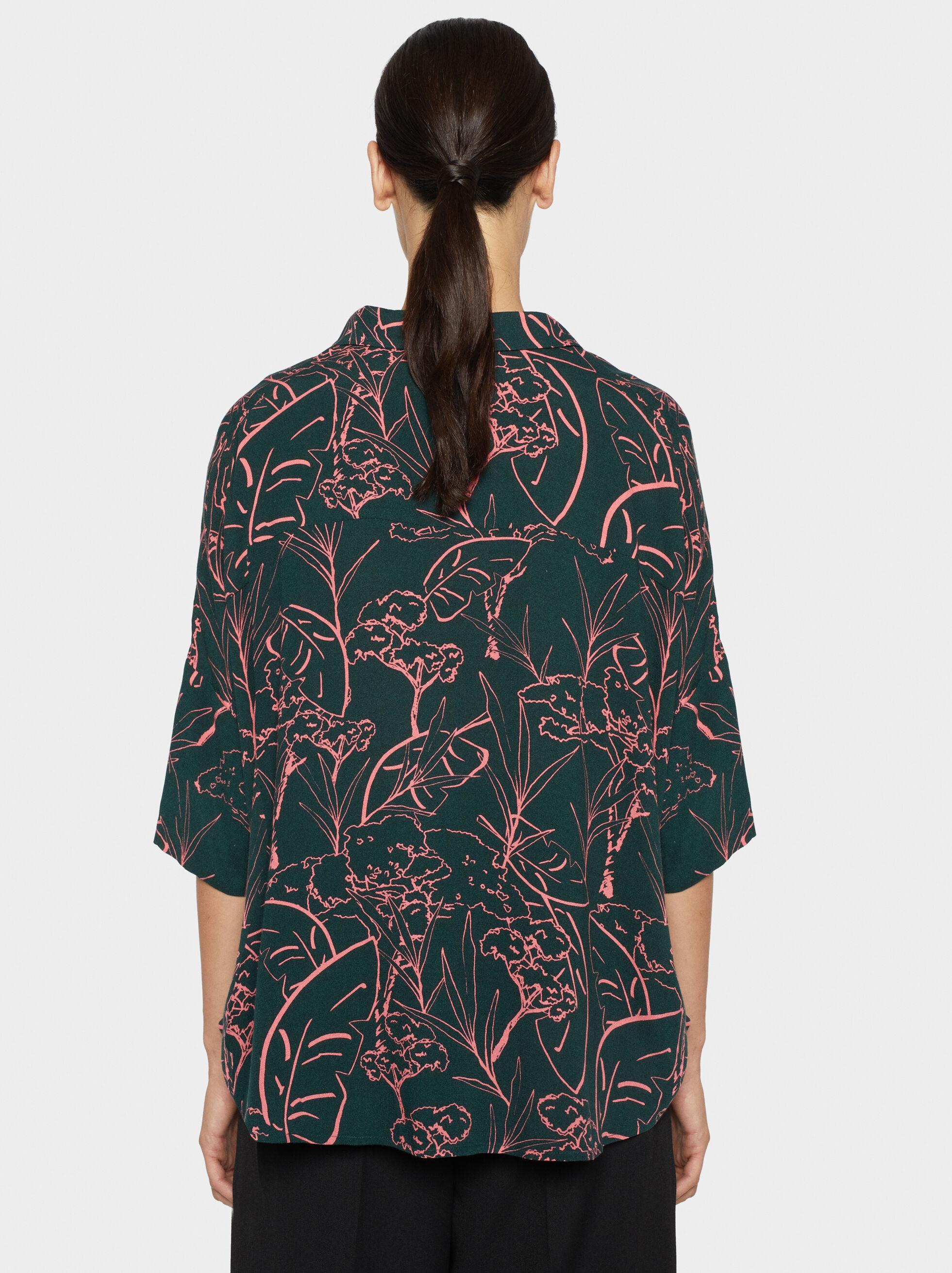 Floral Print Shirt, Green, hi-res
