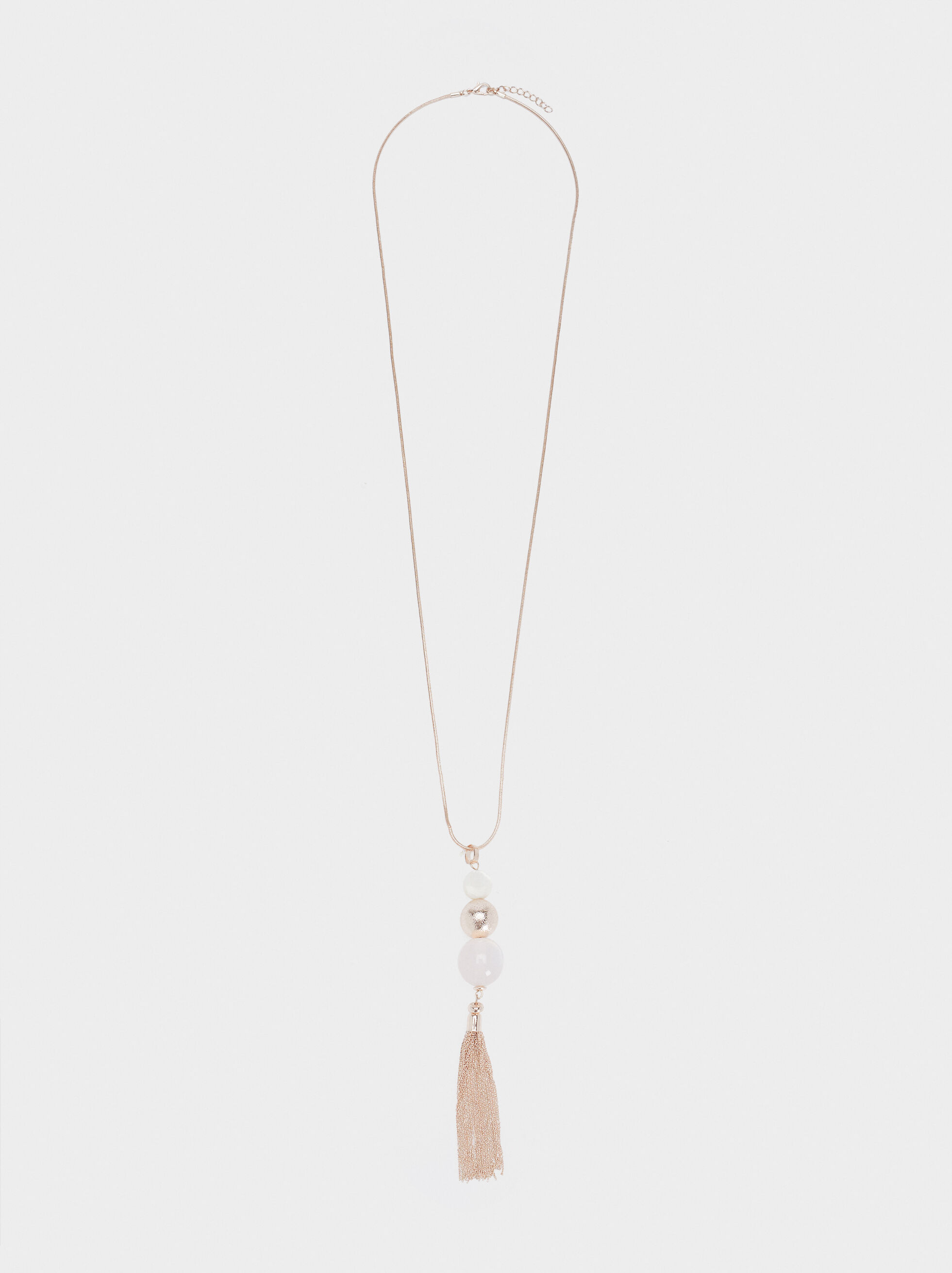 Collier De Perles En Or Rose, Orange, hi-res