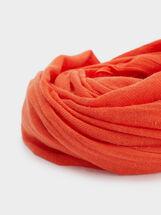 Plain Cotton Pashmina, Orange, hi-res