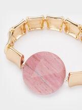 Petrified Elastic Bracelet, Pink, hi-res
