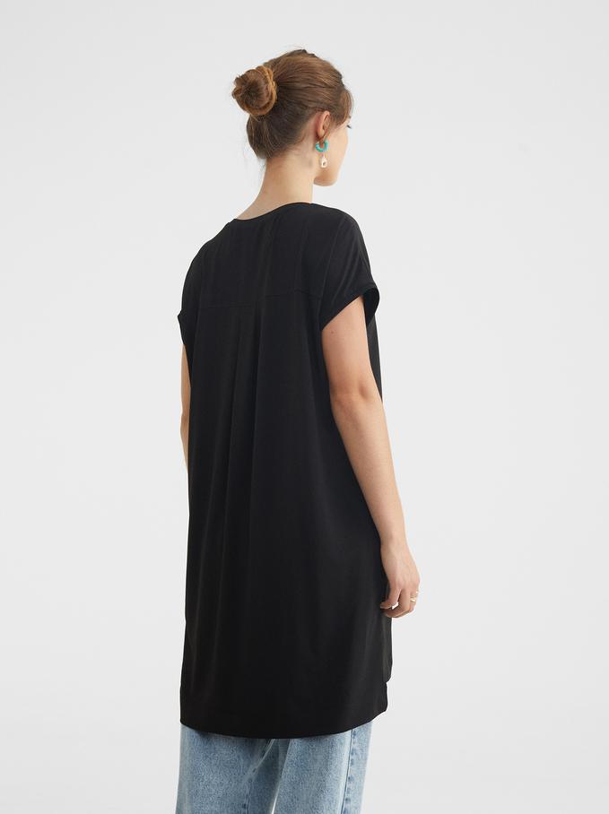 Round Neck Dress, Black, hi-res