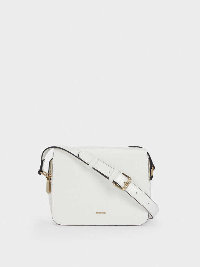 Adjustable Crossbody Bag, White, hi-res