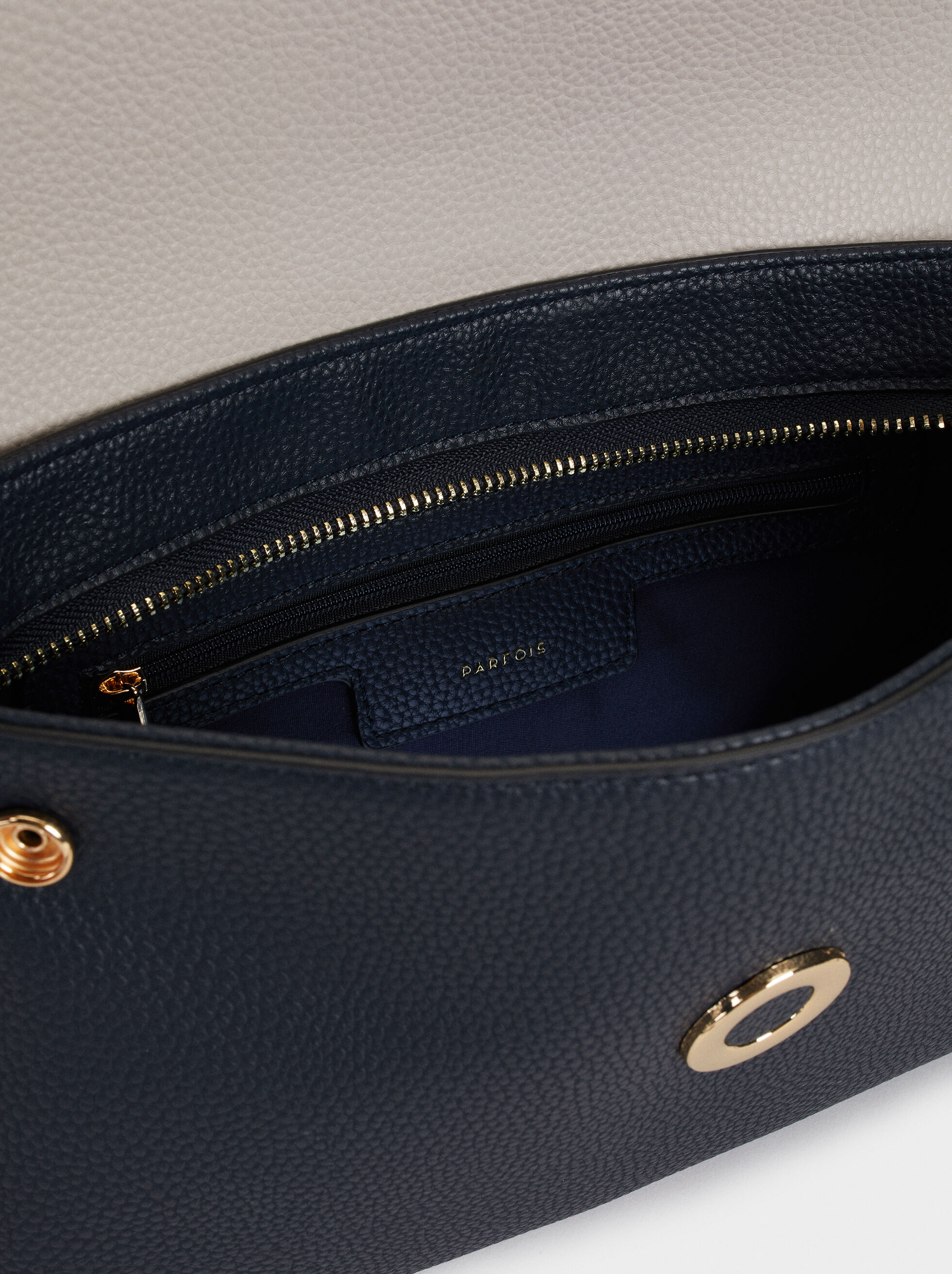 Embossed Crossbody Bag, Navy, hi-res