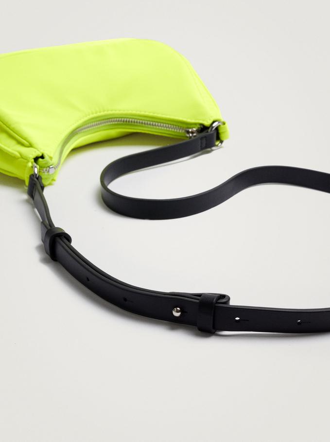 Nylon Shoulder Bag, Yellow, hi-res