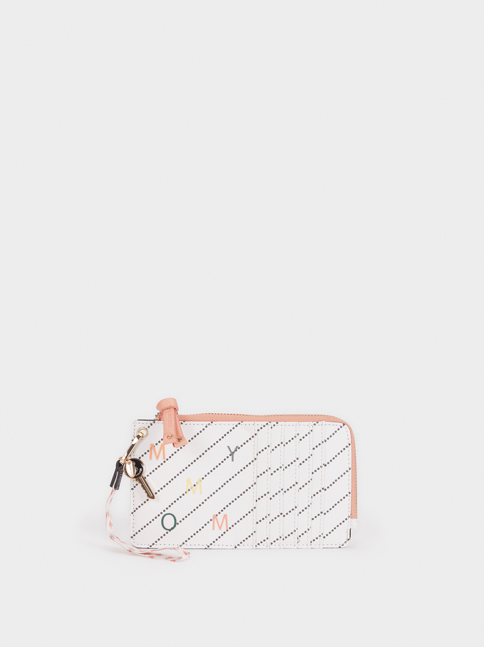 Phone Case With Card Holder, Pink, hi-res