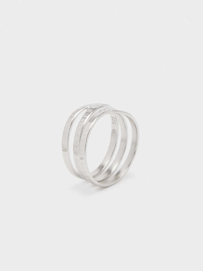 Asymmetrical 925 Silver Ring, Silver, hi-res