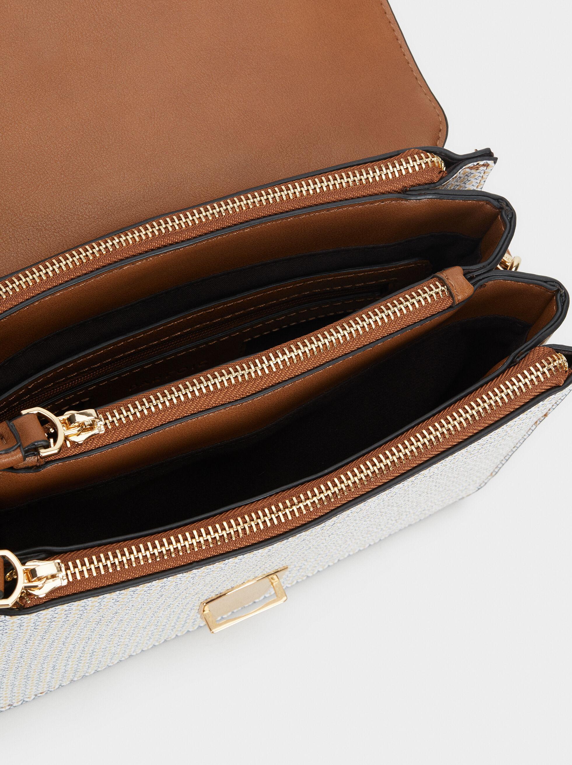 Porto Print Shoulder Bag, Blue, hi-res