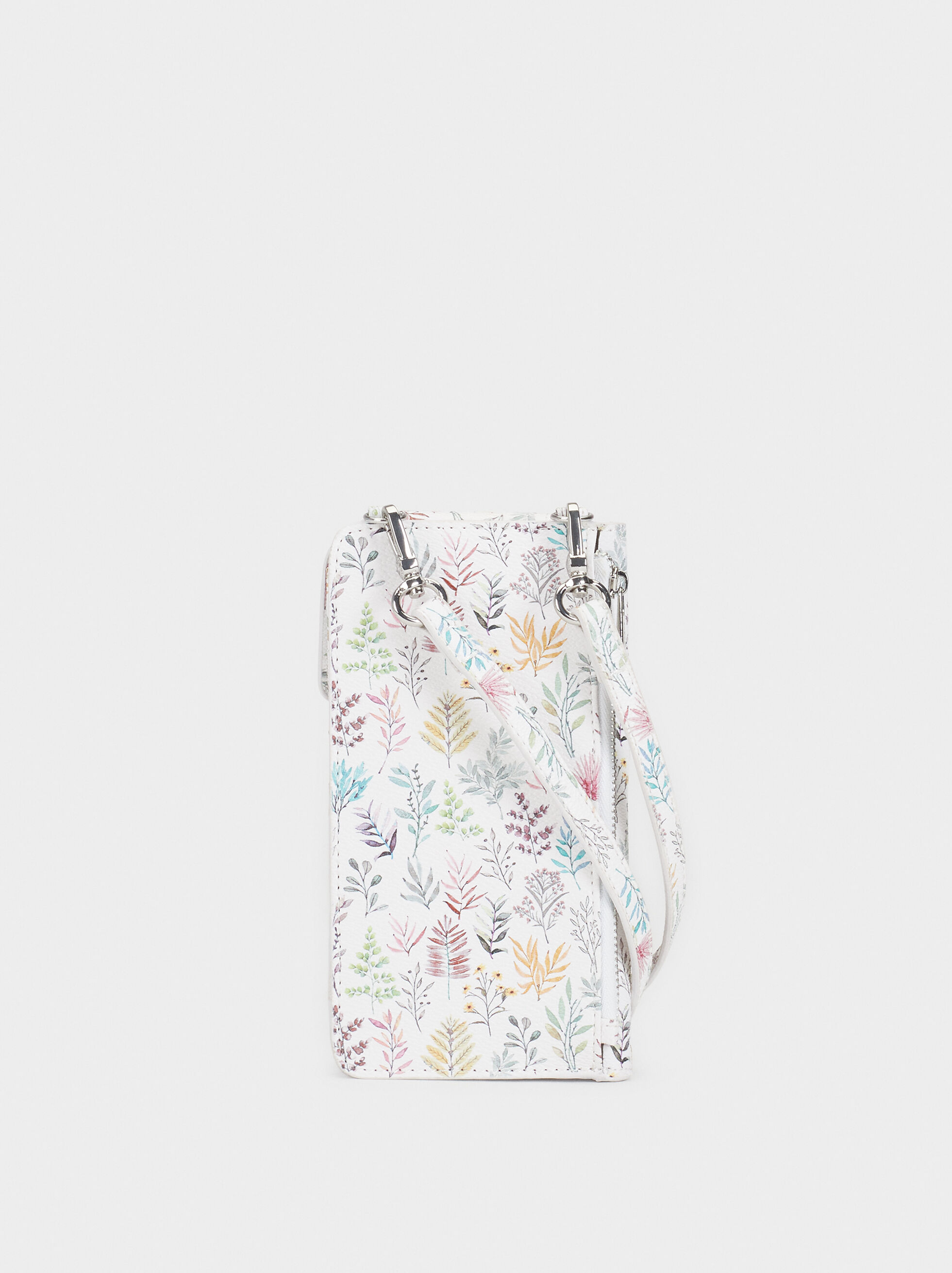 Floral Print Mobile Phone Carrying Case - Phone cases