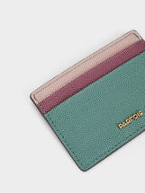 Embossed Card Holder, Green, hi-res