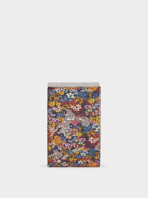 Regular Floral Print Cigarette Box, , hi-res