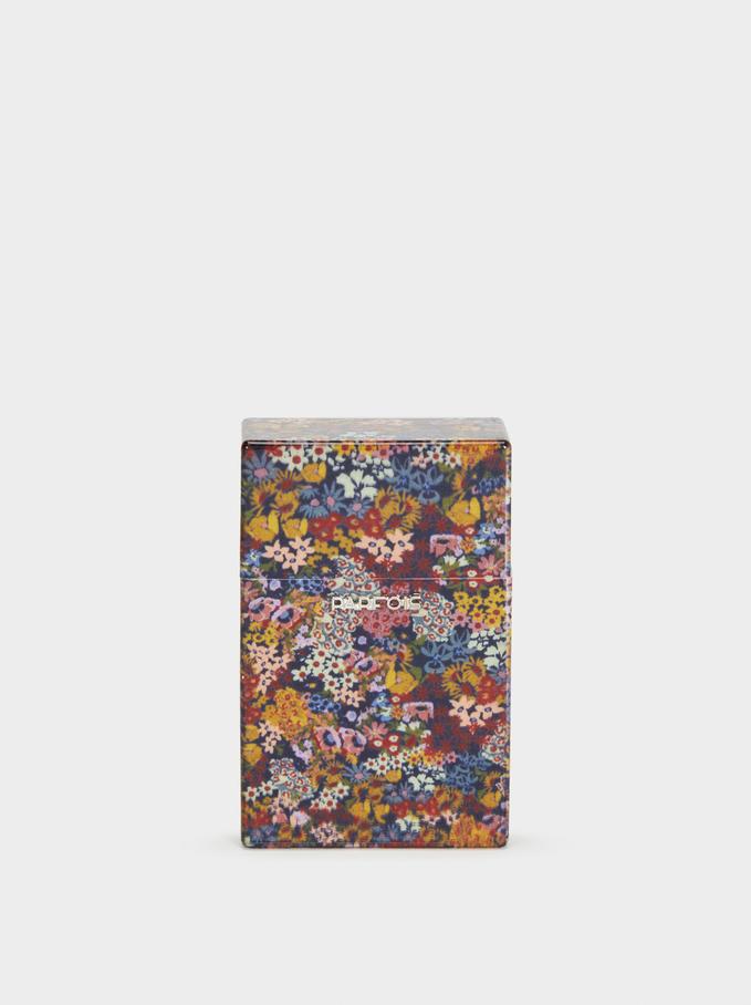 Pitillera Regular Estampado Floral, Multicor, hi-res