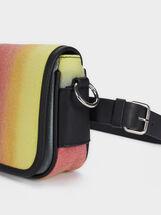 Multicoloured Crossbody Belt Bag, Yellow, hi-res