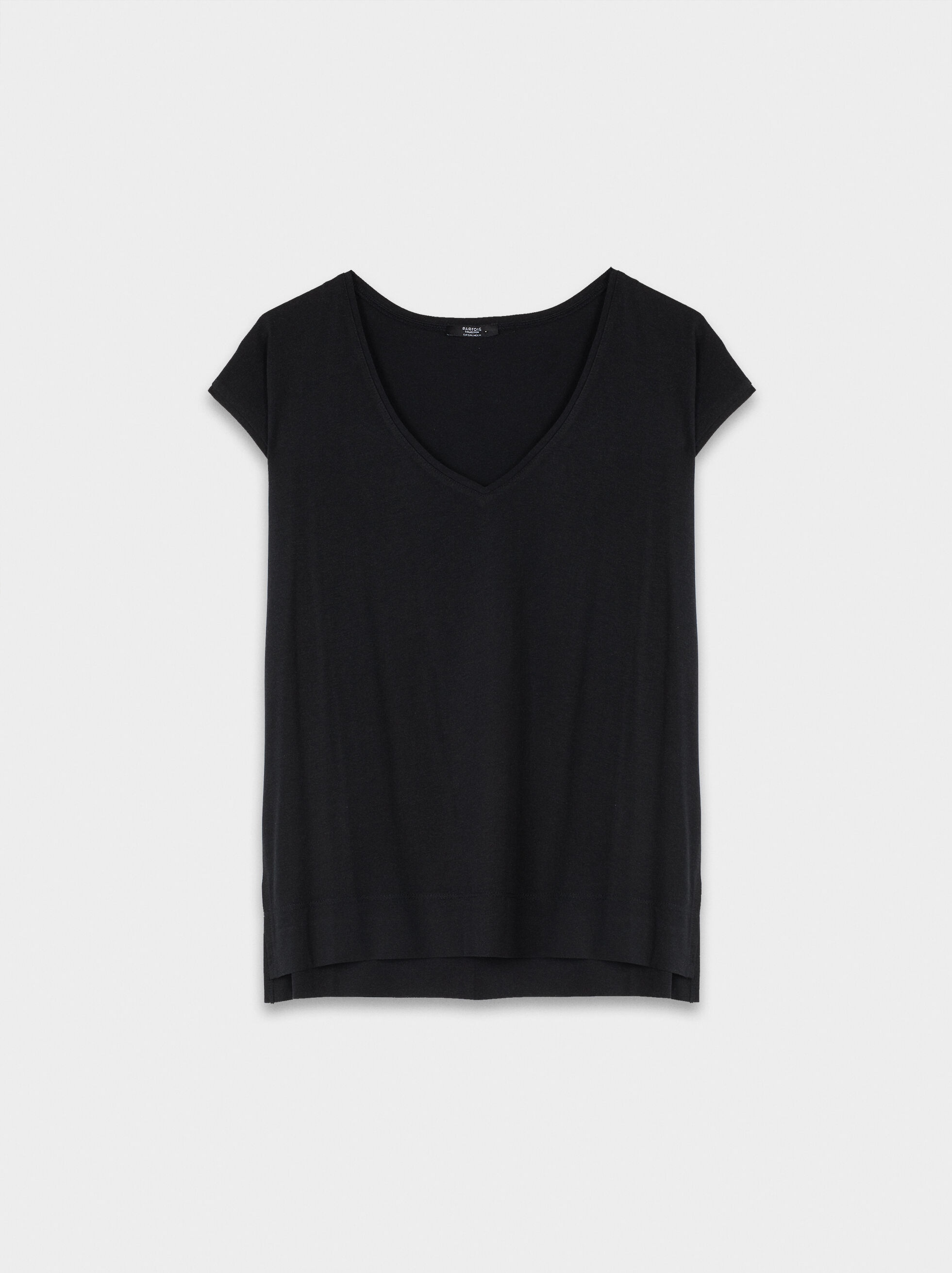 Basic V-Neck T-Shirt, , hi-res