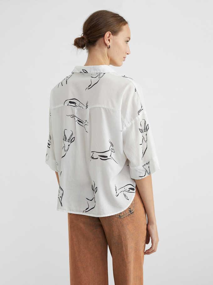 Animal-Print Shirt, White, hi-res