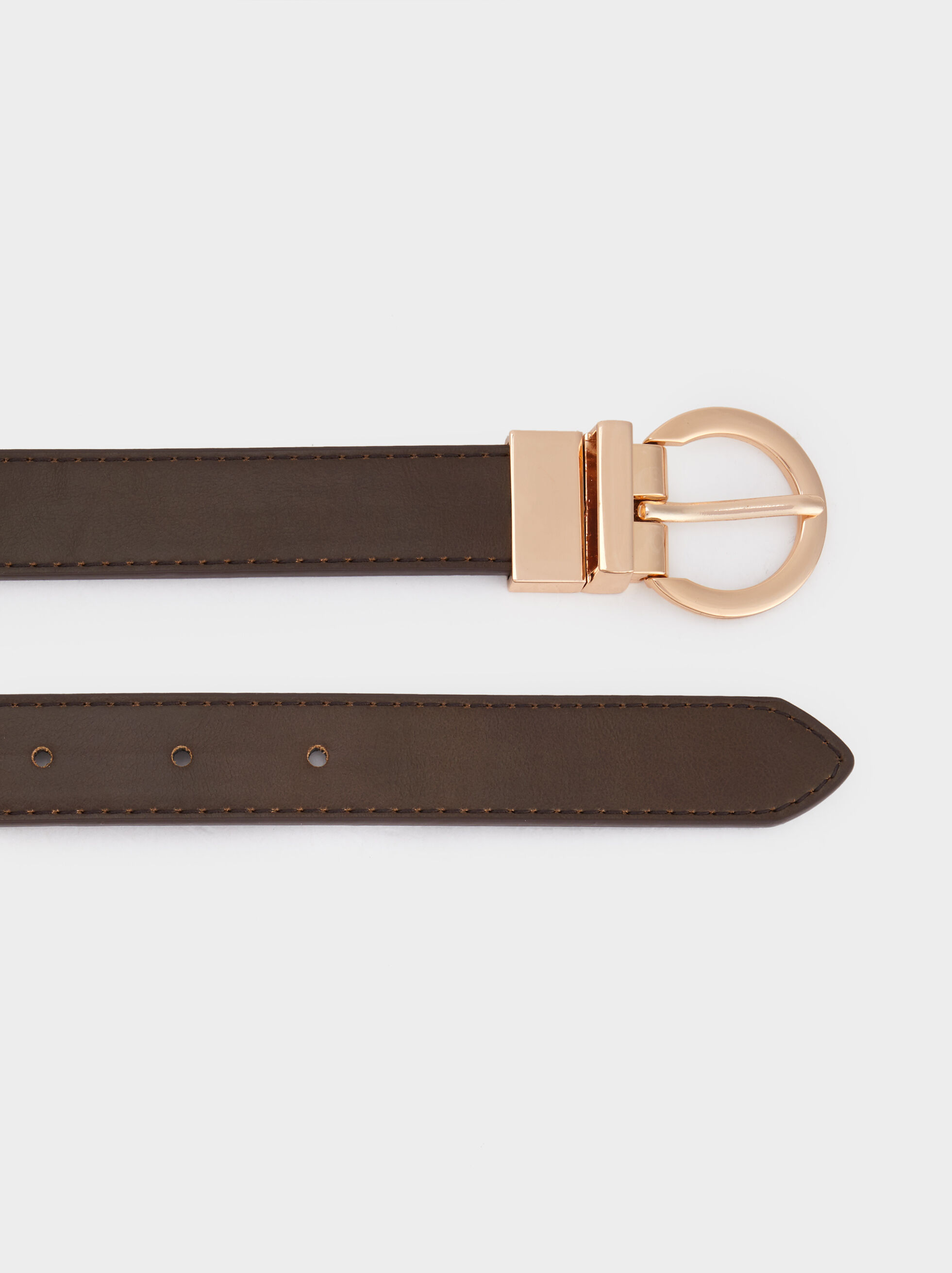 Reversible Belt, Brown, hi-res