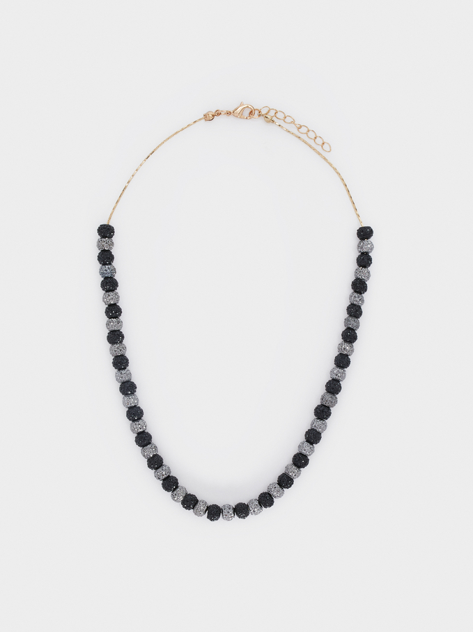 Collier Court Avec Perles Fantaisie, Multicolore, hi-res