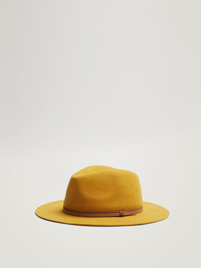 Chapeau En Laine, Moutarde, hi-res