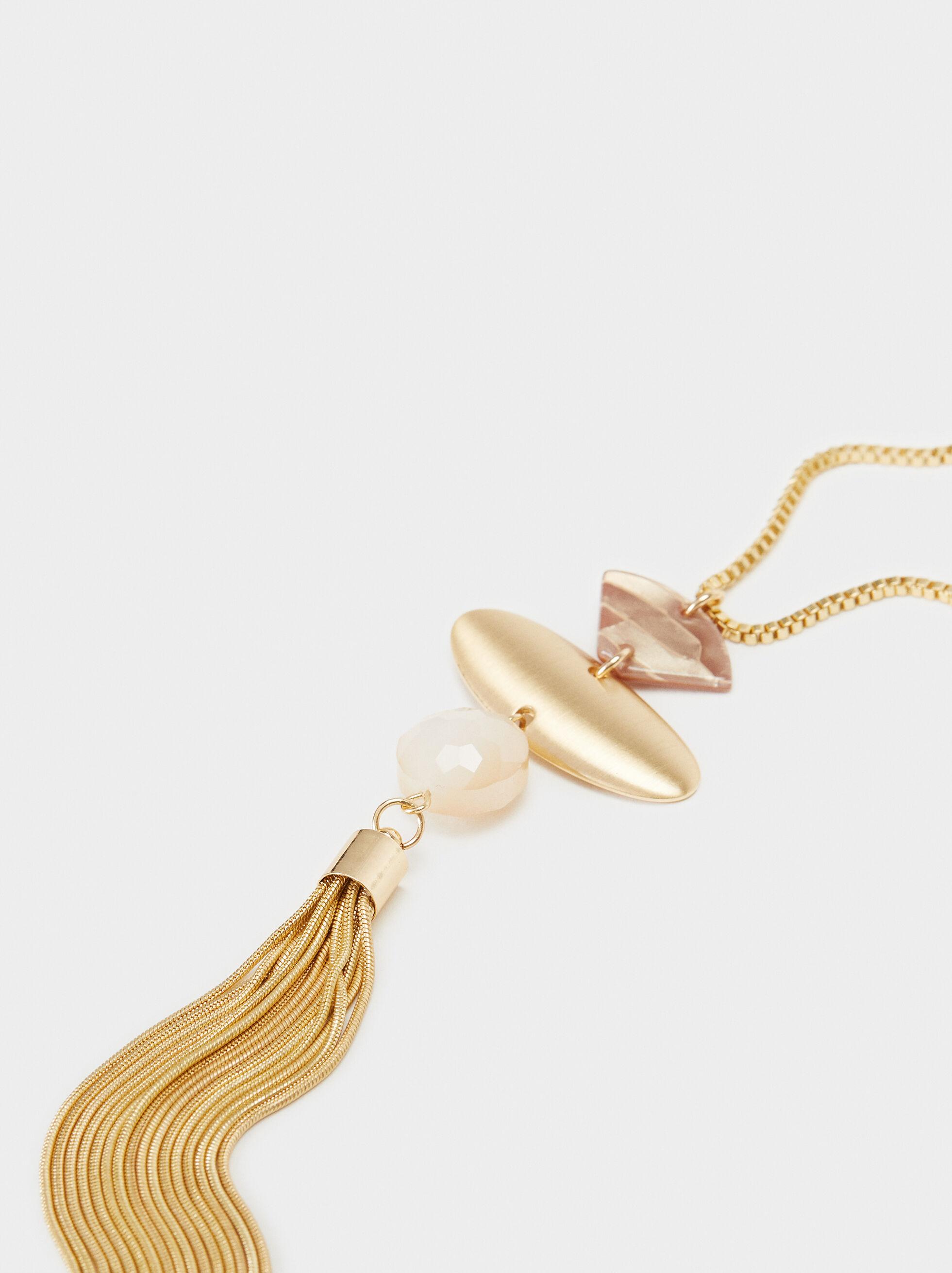 Creme Long Necklace, Multicolor, hi-res