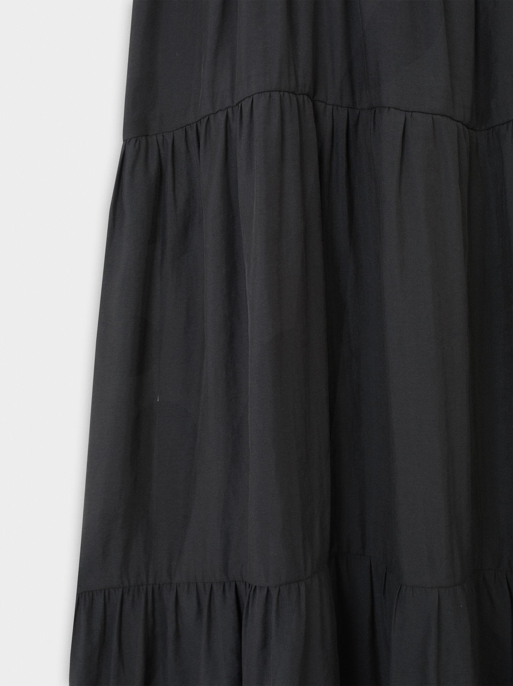 V-Neck Dress, Navy, hi-res