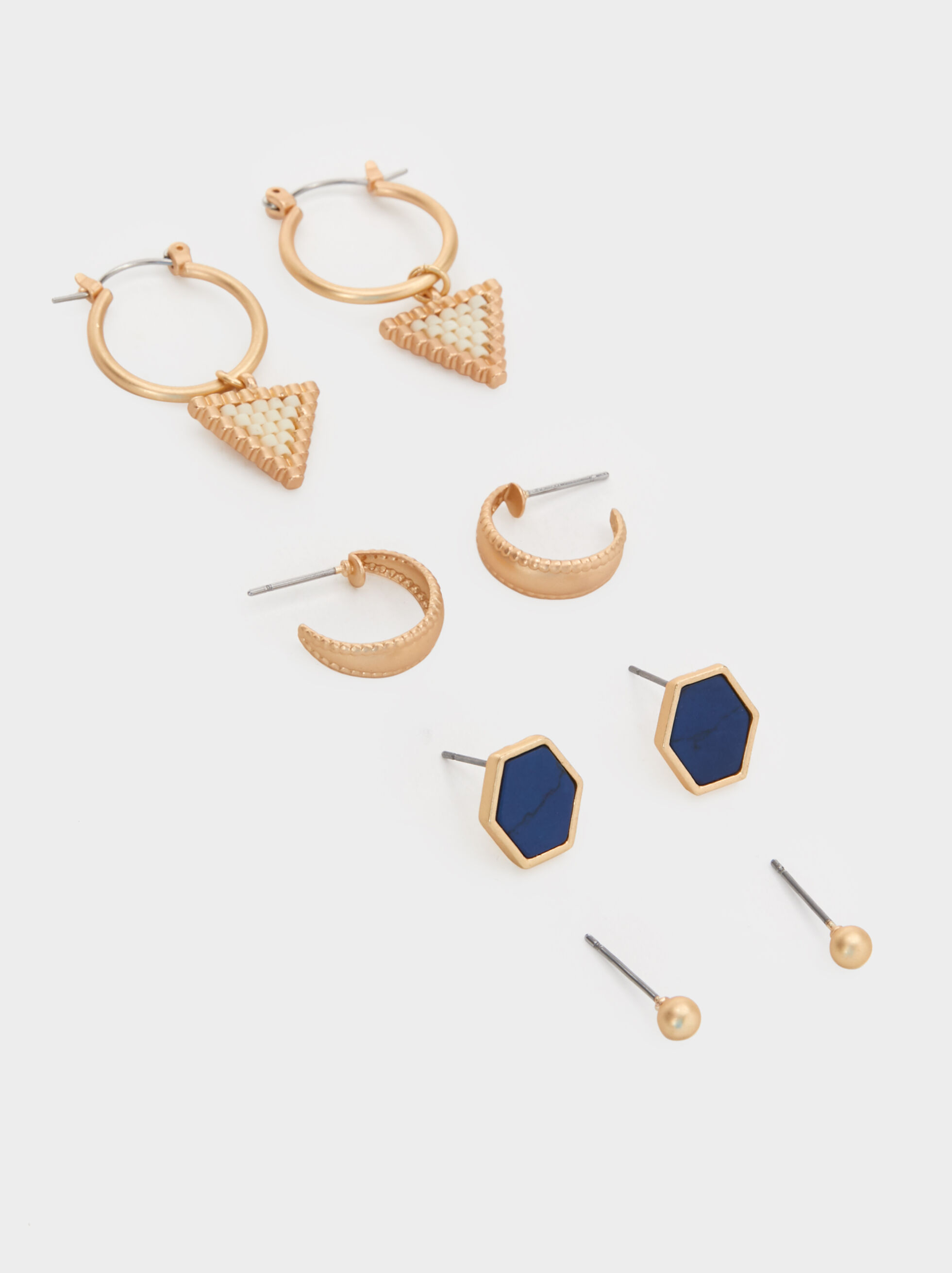 Zorba Set Of Earrings, Multicolor, hi-res