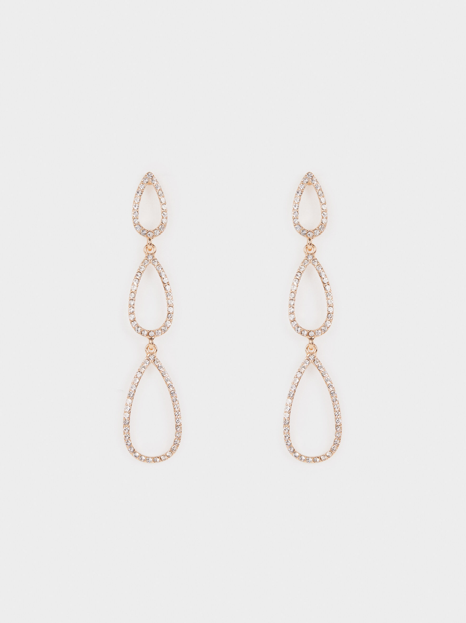 Long Earrings With Rhinestones, , hi-res