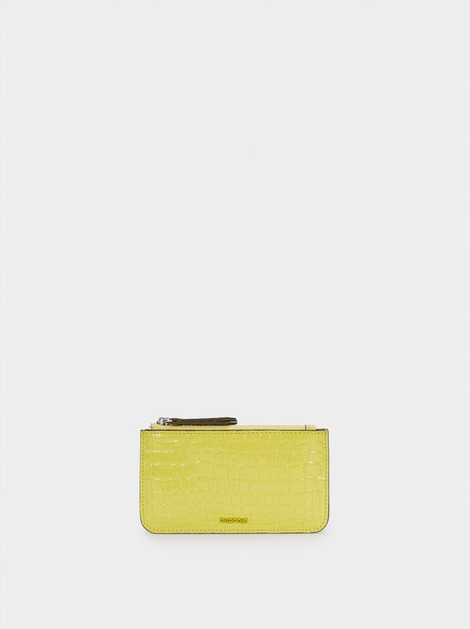 Embossed Animal Print Multi-Purpose Bag, Yellow, hi-res
