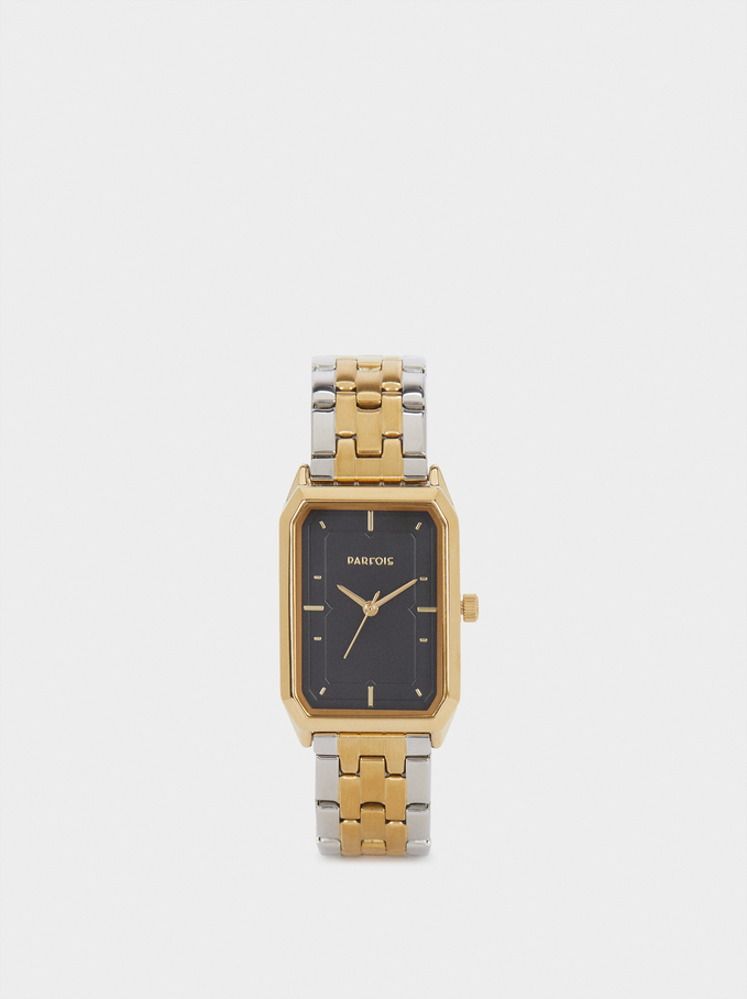 Gold Tray Dress Watch, Golden, hi-res