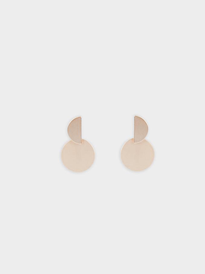 Geometric Earrings, Orange, hi-res