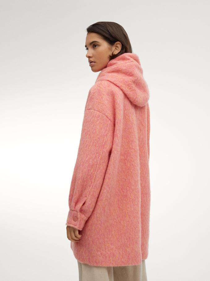 Wool Coat With Hood, Multicolor, hi-res