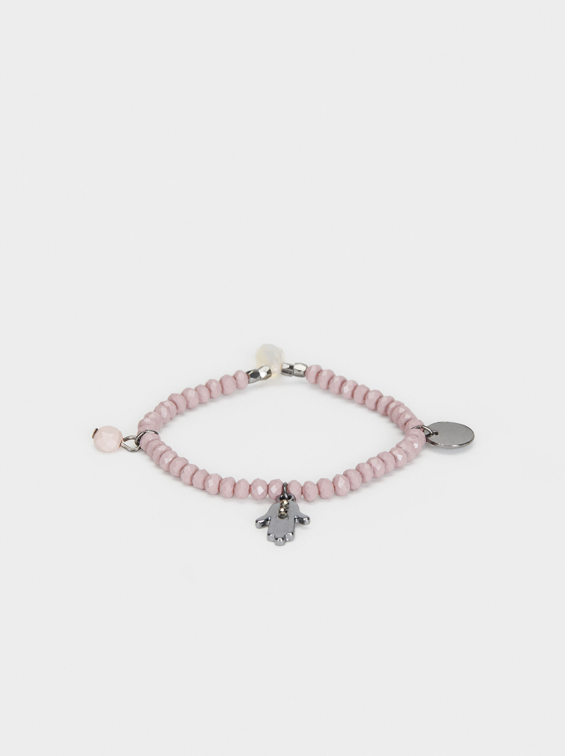 Cosmic Pink Elasticated Bracelet , Pink, hi-res