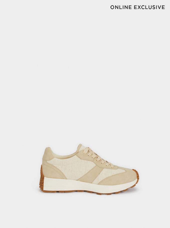 Chaussures De Sport Combinées, Beige, hi-res