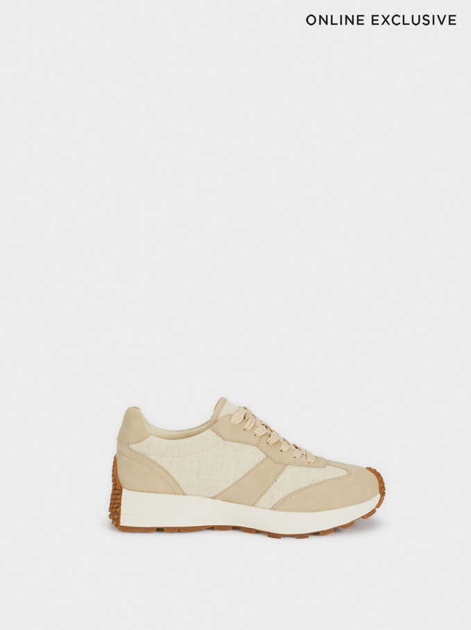 Trainers With Matching Colours, Beige, hi-res