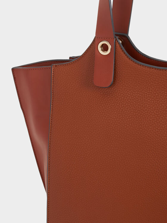 Plain Tote Bag, Camel, hi-res