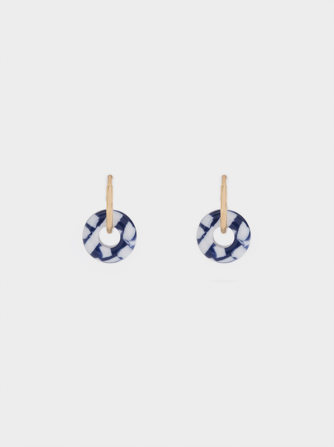 Small Detachable Hoop Earrings, Multicolor, hi-res