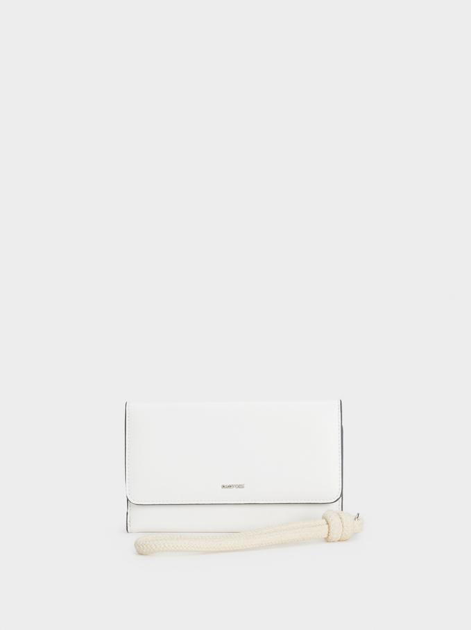 Large Plain Purse, White, hi-res