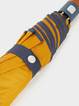 Small Umbrella With Wood Detail, Mustard, hi-res