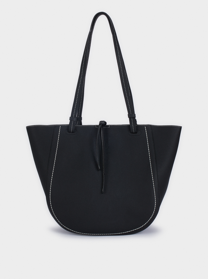 Black Tote Bag, Black, hi-res