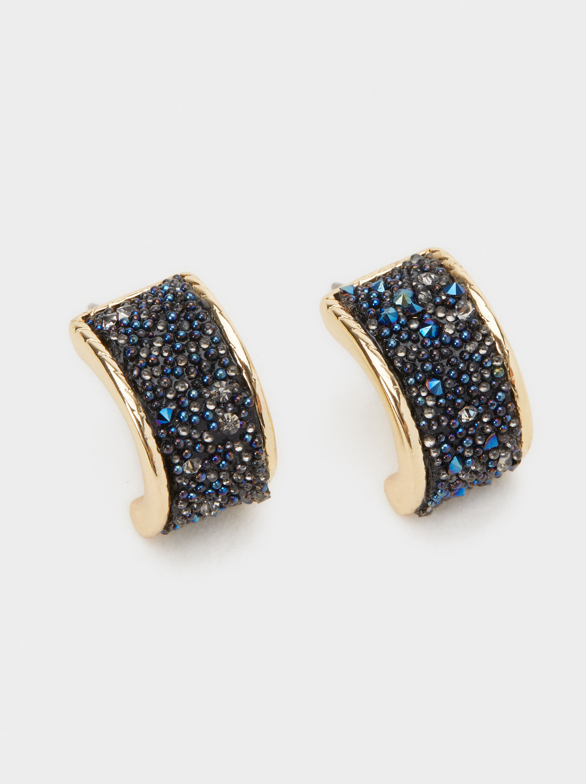 Savage Sparkle Rhinestone Studs, Blue, hi-res