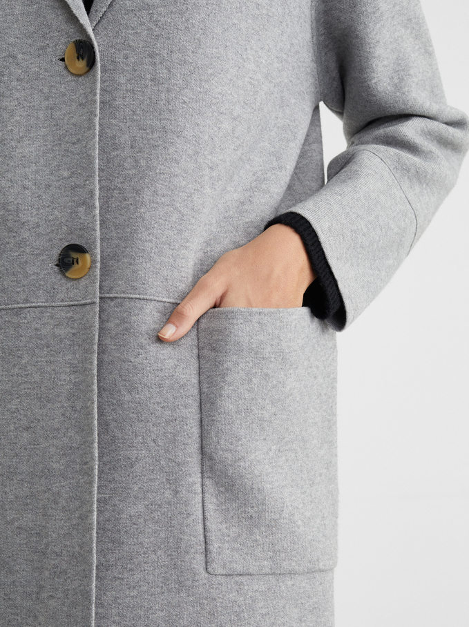 Cardigan With Pockets And A Button Fastening, Ecru, hi-res