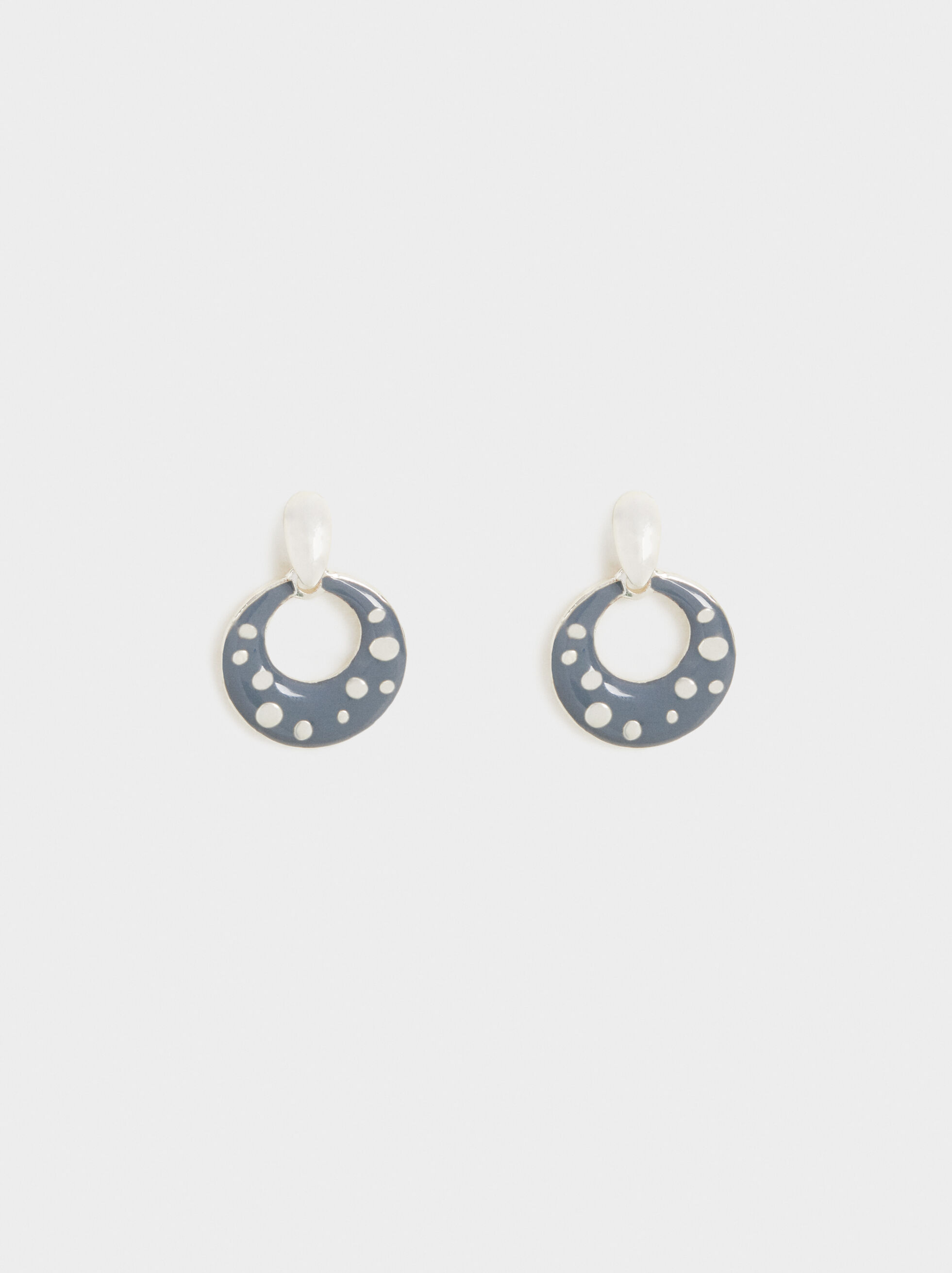 Cosmic Pink Moon Studs, Multicolor, hi-res