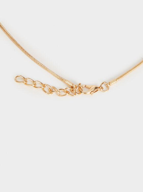 Golden Basics Long Necklace, Golden, hi-res