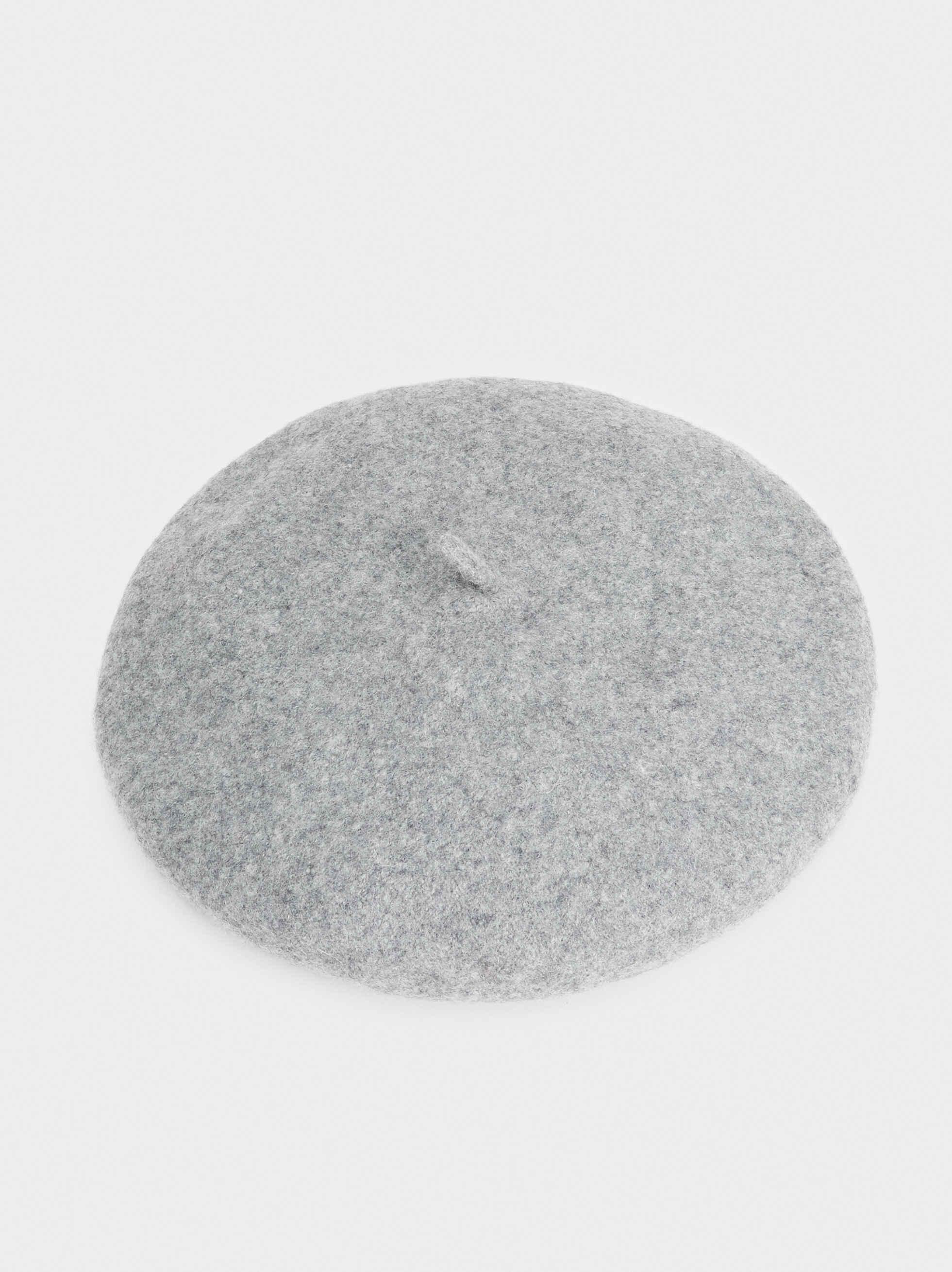 Wool Beret, Grey, hi-res