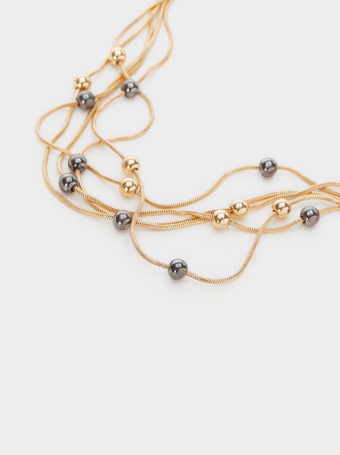 Ras-Du-Cou Perles Fantaisie, Multicolore, hi-res